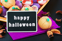 Sweets and candies for the holiday Halloween Stock Photos