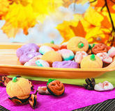 Sweets and candies for holiday halloween Royalty Free Stock Image