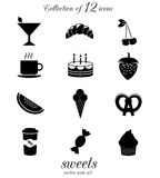 Sweets, candies icon set. Stock Photo