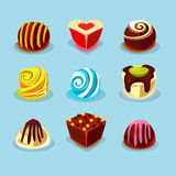 Sweets and Candies Icons Royalty Free Stock Photo