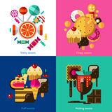 Sweets And Candies Icons Set Royalty Free Stock Images