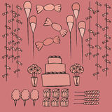 Sweets and candies party ideas Royalty Free Stock Photos