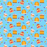 Sweets and candies seamless pattern Stock Image