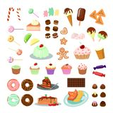 Sweets and candies set. Royalty Free Stock Photos