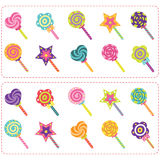 Sweets Candy And Lollipop Set Royalty Free Stock Photo