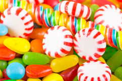 Sweets candy caramel colorful texture Stock Images