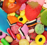 Sweets Candy. Close-up pile of colorful sweets Royalty Free Stock Image
