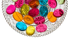Sweets in Candy Dish. Candy dish with colorful sweets Royalty Free Stock Photography