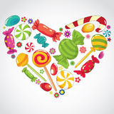 Sweets candy  heart Stock Photo