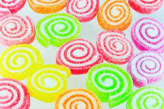Sweets candy isolated. A lot of colorful sweets Stock Photo