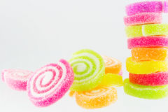 Sweets candy isolated. A lot of colorful sweets Royalty Free Stock Photos