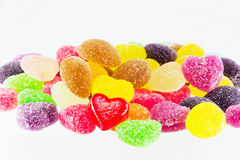 Sweets candy isolated. A lot of colorful sweets Royalty Free Stock Photography