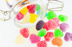 Sweets candy isolated. A lot of colorful sweets Stock Photos