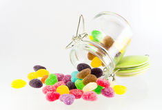 Sweets candy isolated. A lot of colorful sweets Stock Images