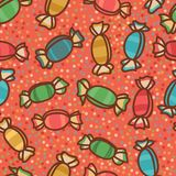 Sweets and candy seamless pattern Royalty Free Stock Photo