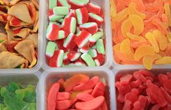 Sweets and Candy on Street Market royalty free stock photos