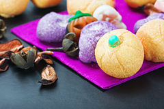 Sweets and candy to celebrate Halloween Stock Images