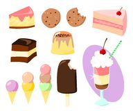 Sweets. A cartoon set of various sweets stock illustration