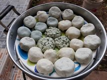 Sweets of Chaozhou Chinese people The dough is made from rice flour mixed with tapioca flour. royalty free stock photo