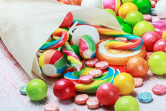 Sweets and chewing gum Royalty Free Stock Images