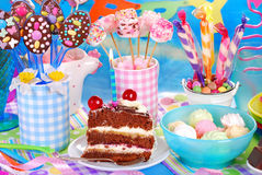 Sweets for children birthday party Stock Image