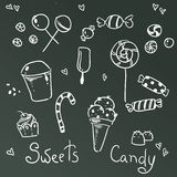 Sweets and chocolate icons Royalty Free Stock Photo