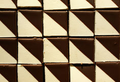Sweets chocolate pattern. Sweets with chocolate icing, czech homeland desserts Royalty Free Stock Photography