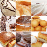 Sweets collage. High definition photo Stock Photos