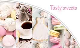 Sweets collage Stock Image