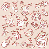 Sweets collection Stock Photography