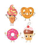 Sweets. Collection of Four Various Confectioneries Royalty Free Stock Images