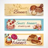 Sweets colored banners Stock Photo