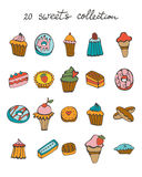 Sweets colorful collection Royalty Free Stock Images