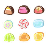 Sweets Colorful Set Royalty Free Stock Image