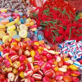 Sweets. Colors red candy candies royalty free stock photo