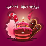 Sweets congratulate - Happy Birthday Royalty Free Stock Photography