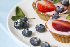 Sweets with cream Royalty Free Stock Images