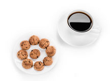 Sweets with cup of coffee. Royalty Free Stock Images