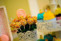 Sweets and cupcakes Royalty Free Stock Photos