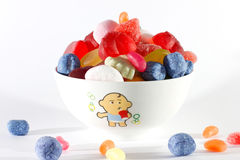 Sweets. Delicate sweets of different colors, shapes and flavors that appeal to children of all ages stock image