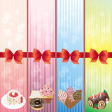 Sweets and dessert banner collection Royalty Free Stock Photos