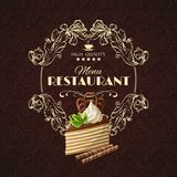 Sweets dessert restaurant menu Royalty Free Stock Photography