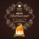 Sweets dessert restaurant menu Stock Photo