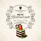 Sweets dessert restaurant menu Stock Photography