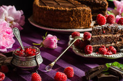 Sweets and desserts. Chocolate cake. Stock Image