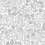 Sweets and desserts pattern Royalty Free Stock Image