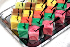 Sweets. Different sweets arranged for reception Royalty Free Stock Photography