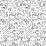 Sweets doodle seamless pattern Stock Image