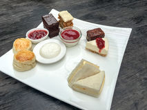 Sweets. Eat sets afternoon tea on weekends Royalty Free Stock Photography