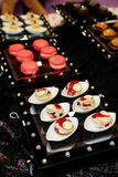 Sweets on fancy display Royalty Free Stock Images